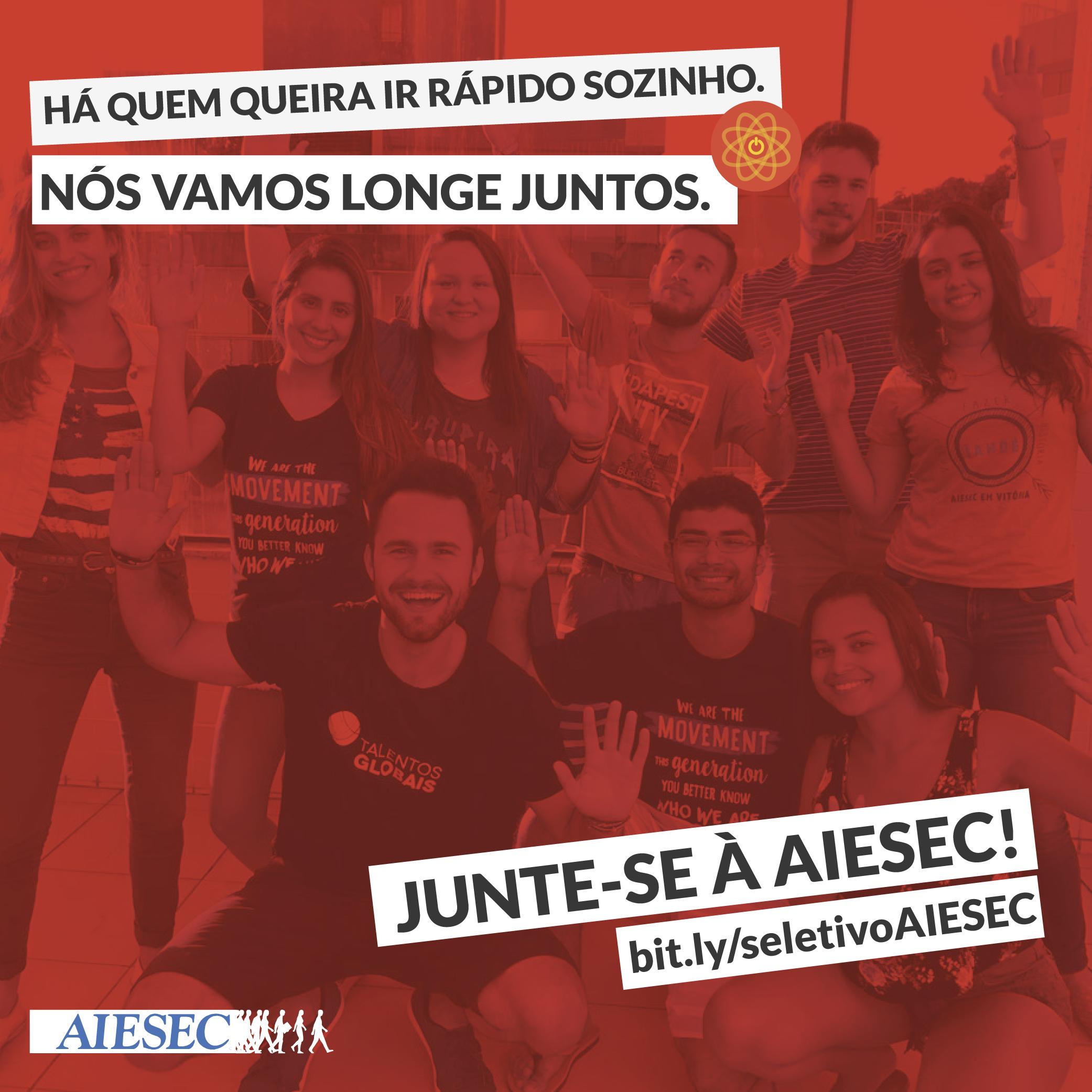 e2e10fff10 AIESEC Vitória abre processo seletivo para o recrutamento de novos membros