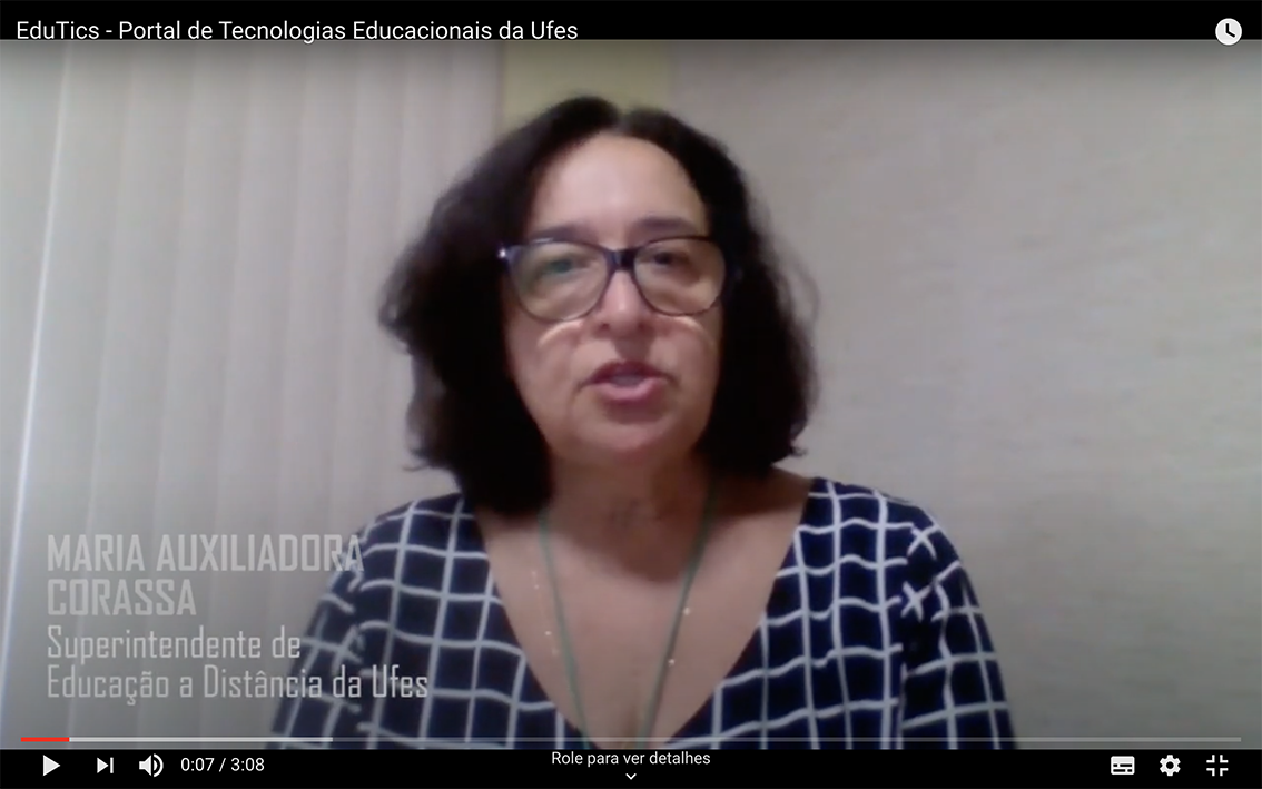 entrevista em vídeo da superintendente da Sead