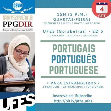 Curso Gratuito De Português Para Estrangeiros E Exame De Proficiência Em Português Confira Ufes